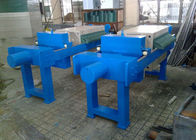 Blue Plate And Frame Filter Press Equipment , Frame And Plate Filter Press