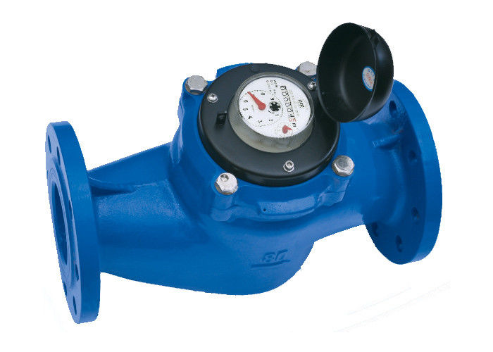 Vertical Helix Water Meter For Measuring Bulk Flow Cold Water / Hot Water
